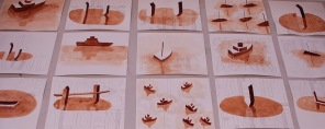 The Collab Drawings (install detail)